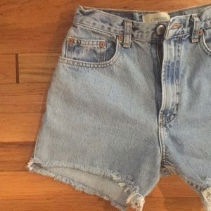 Vintage Gap High Waisted Cut Offs Jean Shorts